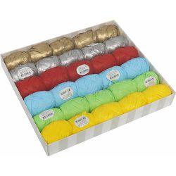 Traka rafia 5mmx10m (jaje), pastel mix 6 boja od 30 kom u kutiji, P30