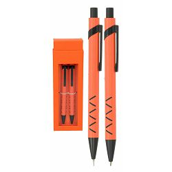 Set pisaći WOW kemijska olovka i tehn.ol. narančasti P1/100