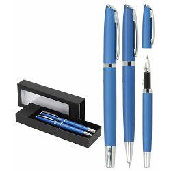 Set pisaći Toledo Wellington kemijska olovka i roler plavi P1/100