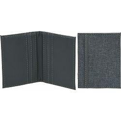 Etui za kreditne kartice Nivala, 10x8cm, crni, umjetna koža P1/200