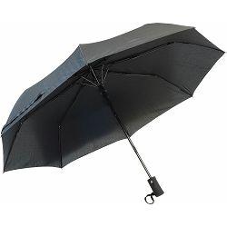 Kišobran Artio crni, sklopivi, aut. otvaranje, gumena drška P12/48 NETTO