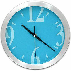 Sat zidni Fluid aluminijski srebrno/plavi fi 25 cm P1/20