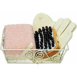 Set darovni EMMA spužvica, četka, rukavice i čarape u košari P1