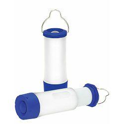 Baterijska lampa Popout plavo bijela, za kampiranje