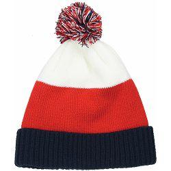 Kapa pletena Scandic crno/crveno/bijela 86442