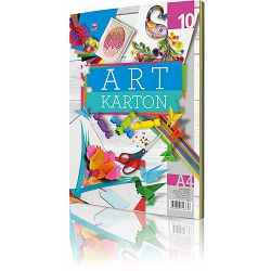 Art Karton Ris A4, 10 listova (10 boja), 250 g P80 (29964)