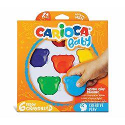 Boje voštane 1/6 Carioca Baby Teddy Crayons 1+ 42956 P12