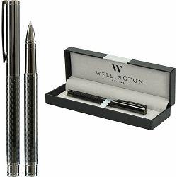 Set pisaći Wellington Carbon roler antracit siva u poklon kutiji P1/200