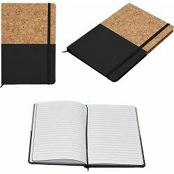 Notes Corc Color A5 crni pluto/PU 96 str. s gumicom, 14x21x1 cm P12/96