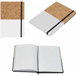 Notes Corc Color A5 bijeli pluto/PU 96 str. s gumicom, 14x21x1 cm P12/96