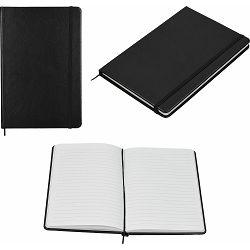 Notes Embose  A5 crni PU umjetna koža  96 str. s gumicom 14x21x1 cm P12/96