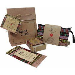 Poklon paket Ethno Croatia crni 2, toaletna torbica i sapun
