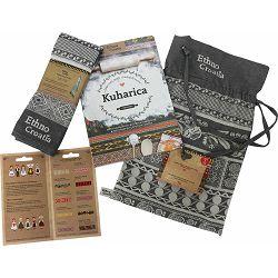 Poklon paket Ethno Croatia Cook, kuharica i kuhinjska krpa u damast vrećici