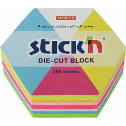 Blok samolj. STICK'N 61x70 neon sort boja hexagone 250L 21827 P18/108