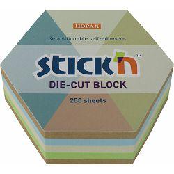 Blok samolj. STICK'N 61x70 pastel/recikl. sort boja hexagone 250L 21828 P18/108