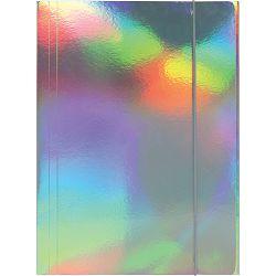 Fascikl kartonski/lak s gumicom 600gr OPTIMA hologram 60578A P50