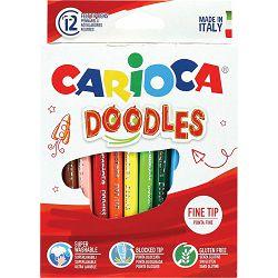 Flomasteri 1/12 CARIOCA DOODLES box 42314 P12/48