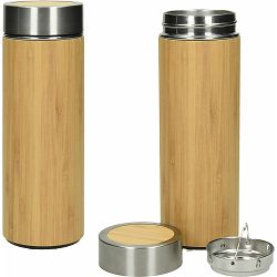 Termosica Bormio 450ml svj.smeđa od bambusa s filterom za čaj