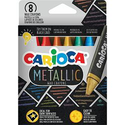 Boje voštane 1/8 Carioca Metallic 43163 P12/72