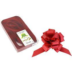Mašna potezna 31mm glitter crvena 30 kom u pvc kutiji P30/300