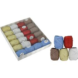 Traka 6,5mmx20m (jaje), glitter mix 5 boja od 24 kom u kutiji P24/264