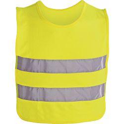Prsluk s reflektirajućim trakama dječji, žuti, regulacija bočno na čičak 37x47cm