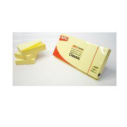 Blok Apli samoljepljivi 40x50mm 3/1 boja žuta 100L 10977