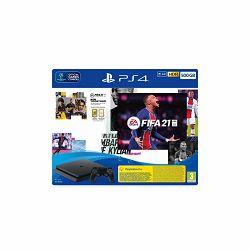 PlayStation 4 500GB F Chassis Black +FIFA 21 + FUT VCH + PS Plus 14dana