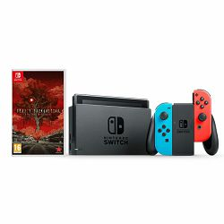 Nintendo Switch Console - Red & Blue Joy-Con HAD + Deadly Premonition 2 BID Switch
