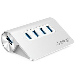 Orico 4-portni USB3.0 hub, Aluminium, srebrni (ORICO M3H4-V1-SV)