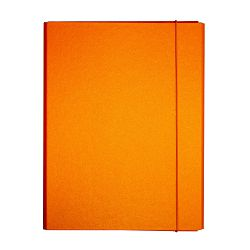 Fascikl kartonski Exclusive Pearly sa gumicom 5cm narančasti daiquiri