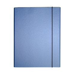 Fascikl kartonski Exclusive Pearly sa gumicom 5cm tamno plavi blue angel