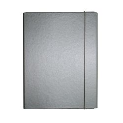 Fascikl kartonski Exclusive Pearly sa gumicom 2,5cm sivi Dorian gray