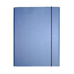Fascikl kartonski Exclusive Pearly sa gumicom 2,5cm tamno plavi blue angel