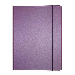 Fascikl kartonski Exclusive Pearly sa gumicom 5cm ljubičasti purple rain