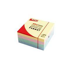 Blok Apli samoljepljiv kocka 75x75mm boja pastelna 400L 10972