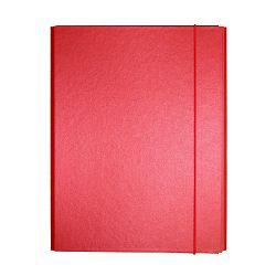 Fascikl kartonski Exclusive Pearly sa gumicom 5cm crveni red fever