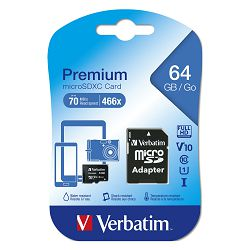 Memorijska kartica Verbatim #44084 micro SDXC 64GB Class10 + 1 adapter