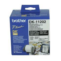 Naljepnica Brother label DK11202 62mm x 100mm 300kom