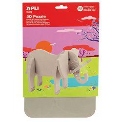 Puzle 3D Apli elephant 13713