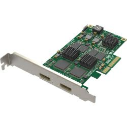 Magewell Pro capture dual HDMI, LP PCIe x4, 2-channel HDMI, plus standard 3D images, Window/Linux/Mac (11080)
