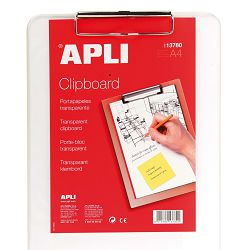 Ploča klip Apli transparent A4 13780