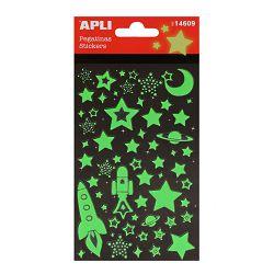Naljepnice Apli stikers zvjezdice svjetleće u mraku 1L 14609