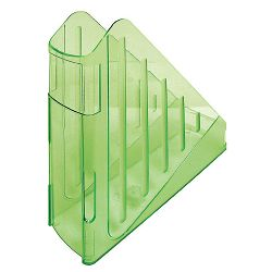 Stalak za spise okomiti Arda transparent zeleni Arda TR4118V