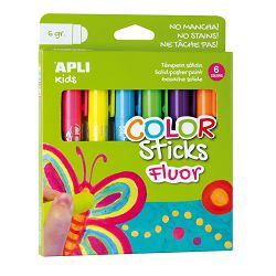 Boja tempera u sticku Apli color sticks fluorescent 6/1 14404