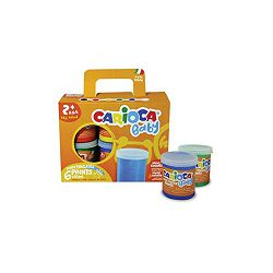 Boja tempera Carioca baby finger paint 6 boja x 80ml ko032