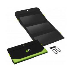Green Cell GC SolarCharge 21W - Solarni panel, 10000mAh power bank funkcija USB-C 18W USB-A QC