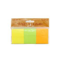 Blok zastavice 40x50mm, 3x100L neon mix