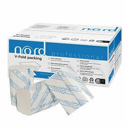 Ručnici papirnati složivi 180/1 21x21 cm, dvoslojni, bijeli, Nord