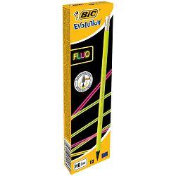 Olovka grafitna Bic evolution fluo sa gumicom 942882